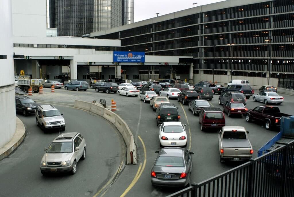 US Border at Windsor detroit tunnel